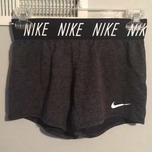 Nike Girl's Dark Heather Gray Shorts